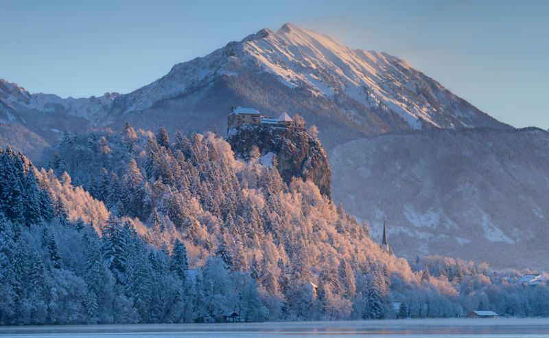 Burg von Bled in Slowenien