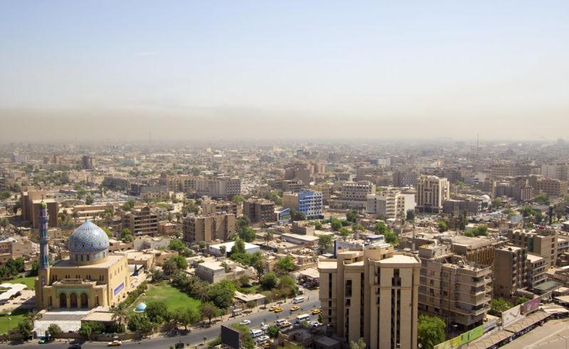 Luftaufnahme von Bagdad, Irak