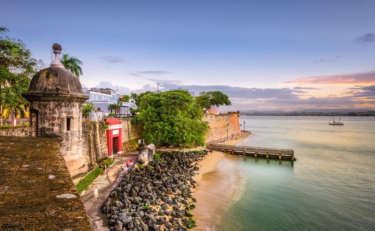 Strand von San Juan in Puerto Rico